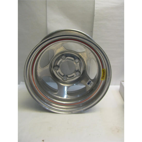 Garage Sale - Basset IMCA Approved Wheel, 15X8, 5 On 5, Silver