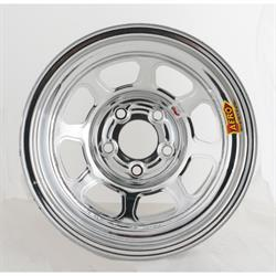 "Garage Sale - AERO 52 Series IMCA 15 Inch Race Wheel, 5 on 5, 4"" Backspace, Chrome"