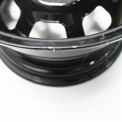 Garage Sale - Bassett 48SP3 14X8 D-Hole 4 on 4.25 3 Inch Backspace Black Wheel