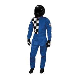 Garage Sale - Finishline One-Piece Double Layer Racing Suit SFI 5 Flame Retardant, Blue, XXXL