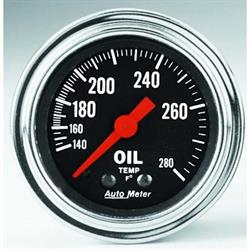 Garage Sale - Auto Meter 2441 Traditional Chrome Mechanical Oil Temperature Gauge