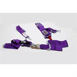 Garage Sale - Crow Enterprizes 11005 Bolt-In 5-Point Harness, Pull Down, Purple