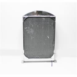 Garage Sale - AFCO 1933-34 Ford Car Polished Aluminum Radiator, Chevy Engine, Single Fan