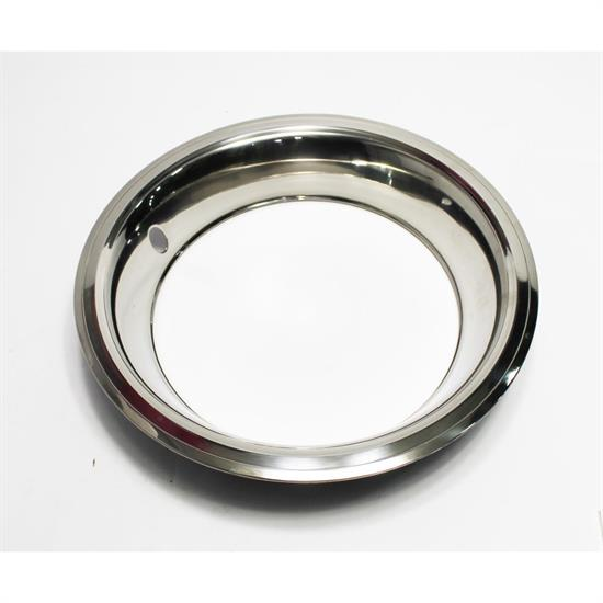 Garage Sale - Stainless Steel Beauty Ring for 15 Inch GM Rally Wheel, 3 Inch Wide