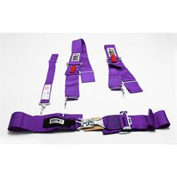 Garage Sale - Crow Enterprizes Sprint and Midget 5-Point Racing Harness Belt Sets, Purple
