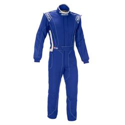 Garage Sale - Sparco Victory RS-4 Racing Suit, SFI-5 Rated, Blue/White, XXL