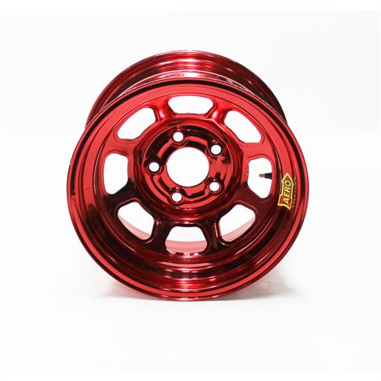 Garage Sale - Aero 51-985030RED 51 Series 15x8 Wheel, Spun, 5 on 5 BP, 3 Inch BS