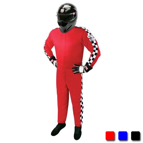 Garage Sale - Finishline Qualifier Racing Suit One Piece Single Layer SFI-1, Red, Medium