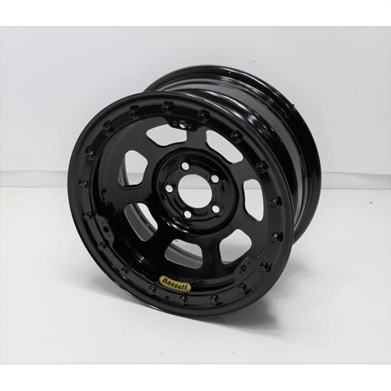 Garage Sale -  Bassett 57SN4L 15X7 D-Hole Lite 5 on 100mm 4 Inch Backspace Black Wheel w/ Beadlock