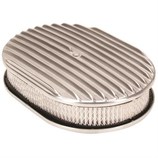 Garage Sale - Speedway Finned Aluminum Oval Air Cleaner, 12 Inch