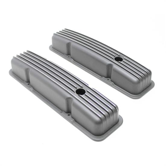 Garage Sale - 1958-1986 SBC 283-305-327-350-400 Short Finned Valve Covers, Black