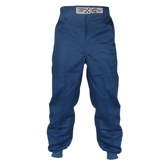Garage Sale - Finishline Qualifier Single Layer Racing Suit Pants SFI-1, Blue, X-Large