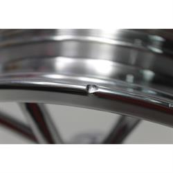 Garage Sale - Radir 18x3 Spindle Mount Wheel for Chevy Spindles, Polished Finish