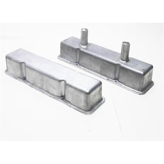 Garage Sale - Speedway Chevy Tall Valve Covers w/ Breather Tubes, Plain Aluminum