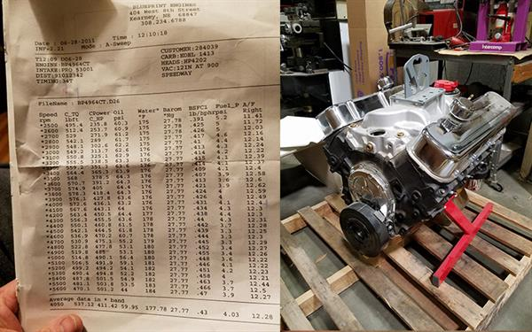 Chevelle 283 to garage sale 496 blueprint dyno sheet malvernweather Choice Image
