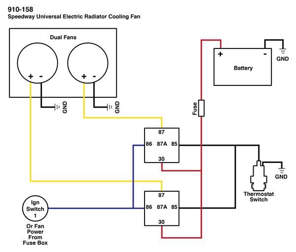 wiring dual electric fans rh speedwaymotors com