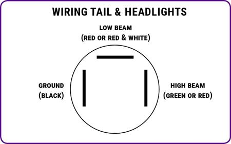 Headlight & Taillight Wiring DiagramSpeedway Motors