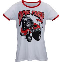 Styled by Shuten 100627WR Super Freak Ladies Ringer T-Shirt
