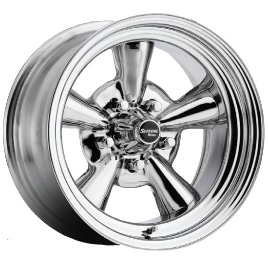 Allied Wheel 6758099R Supreme 15x8 Reverse Wheel, 5x4.5/5x4.75/5x5