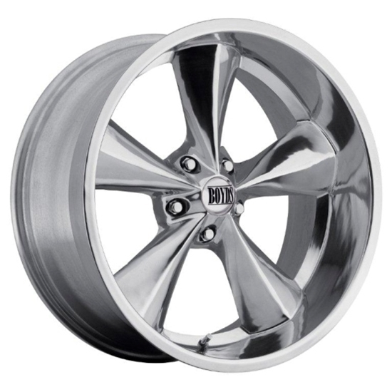 Boyds BC1-296150P Junkyard Dog Series 20x9 Polished Wheel, 5 on 4-3/4