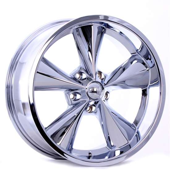 Boyds Wheels BC1-776540C Junkyard Dog 17x7 Chrome Wheel, 5 on 4-1/2