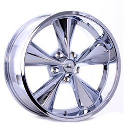 Boyds Wheels BC1-886145C Junkyard Dog 18x8 Chrome Wheel, 5 on 4-3/4