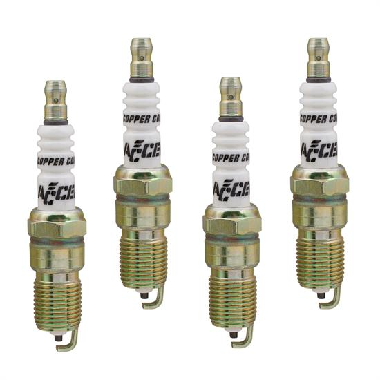 ACCEL 0526-4 Spark Plug, 14mm Thread, .708 In, 4 Pack