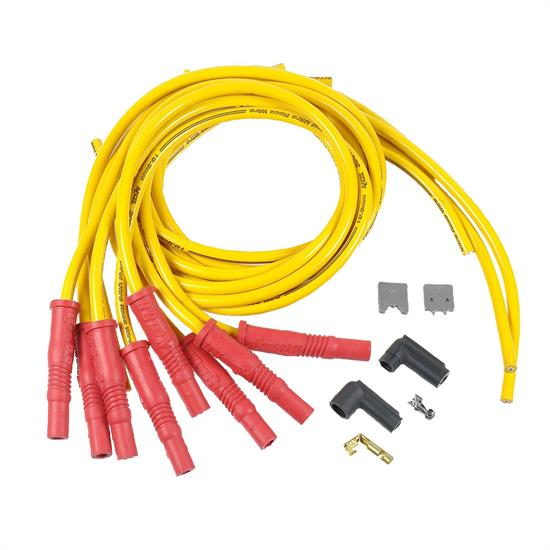 ACCEL 10840 Spark Plug Wire Set, 300+ Ferro,Spiral, 10.8mm, Yellow on