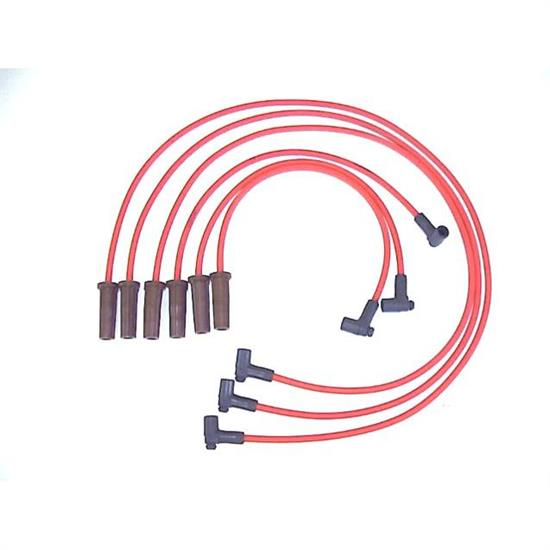 ProConnect 116003 Spark Plug Wire Set, 86-88 GM, 6 Piece Set, Red