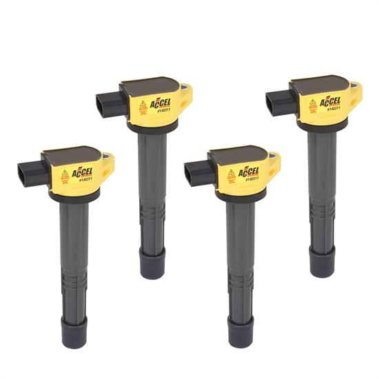 ACCEL 140311-4 Ignition Coil, SuperCoil, Honda 2.0/2.2/2.4L-I4, 4-Pack
