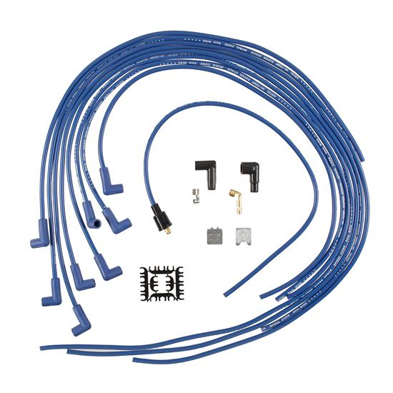 ACCEL 5041B Spark Plug Wire Set, 8mm, Super Stock, Blue/Blue