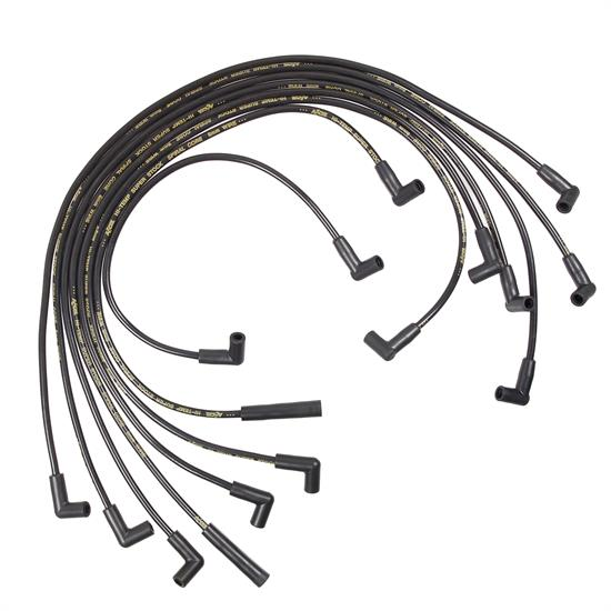 ACCEL 5049K Super Stock Spiral Core Race Wire Set, 8MM, Black