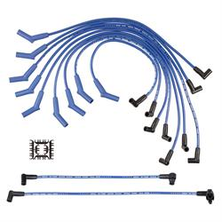 ACCEL 5056B Super Stock Ferro-Sprical Race Wire Set, 8MM, Blue