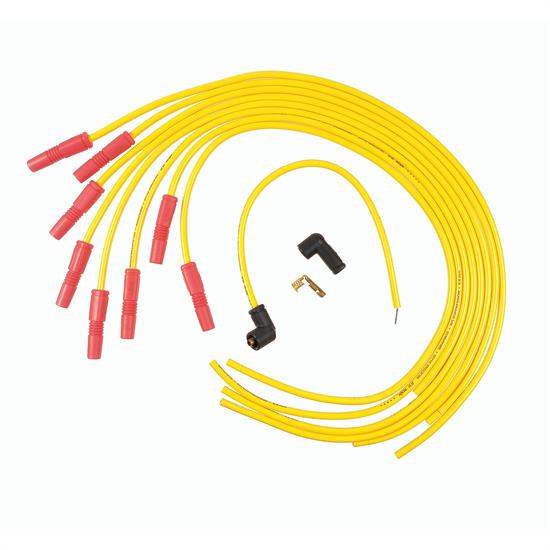 ACCEL 8022ACC Spark Plug Wire Set, Spiral Core 8.8mm, Yellow