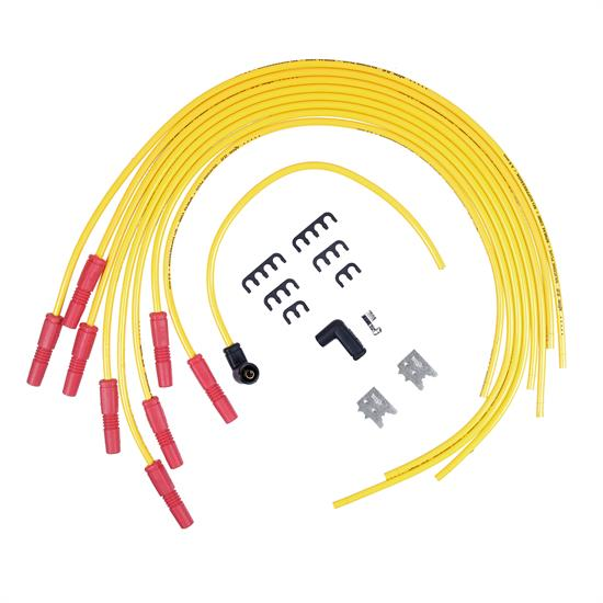 ACCEL 8033 Spark Plug Wire Set, 8.8mm, Spiral Suppression Wire, Yellow