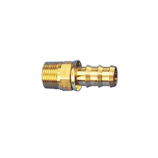Straight Socketless Push-On Fitting, 30 Degree Taper, -6 AN to 3/8 NPT