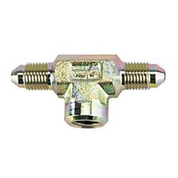 Steel Tee Adapter - Male AN3, 1/8 Inch NPT Female