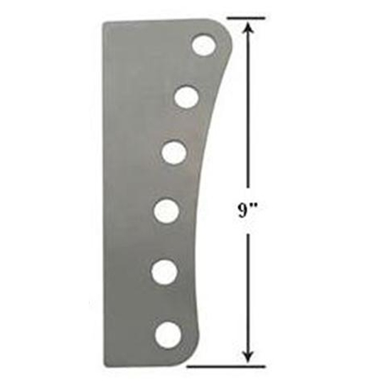 AFCO 6-Hole Steel Mounting Bracket, 5/8 Inch Holes