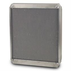 AFCO 80108NRZ Dragster/Roadster Double Pass Radiator, Polished