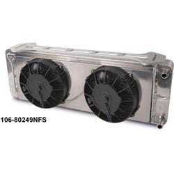 AFCO 80249N-FS 1999-2004 F150 Double Pass Heat Exchanger w/ Fan Shroud