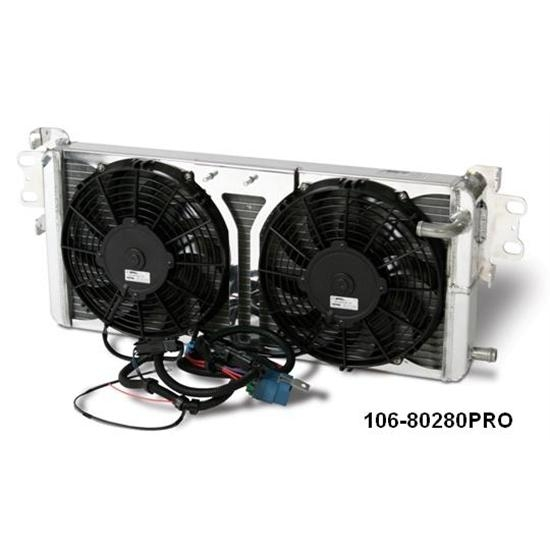 AFCO 80280PRO Shelby GT500 Heat Exchanger w/ Fans