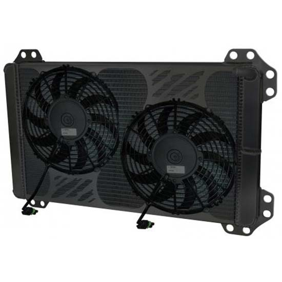 AFCO 80284PROB 2010 & Up Ford Raptor/F150 Heat Exchanger w/ Black Fans