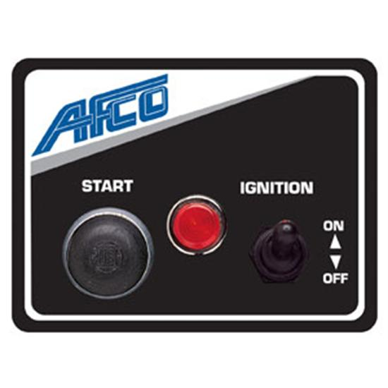 AFCO 85011B Starter Switch Panel with Light, 3 x 4 Inch