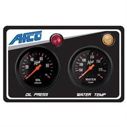 AFCO 85122B 2-Gauge Panel w/ Oil Press, Water Temp