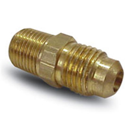 AFCO 85258 Brass Gauge Fitting Adapter, 1/8 Inch Male Pipe to -4 AN