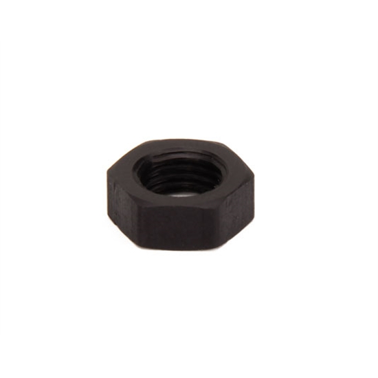 Black Aluminum Jam Nut, 3/8-24 Thread