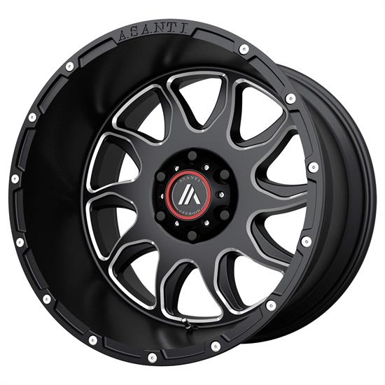 Asanti AB810-22128044NGM Off-Road Series Wheel, 22 x 12