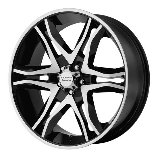 American Racing AR89378068300 Mainline Series Wheel, 17 x 8