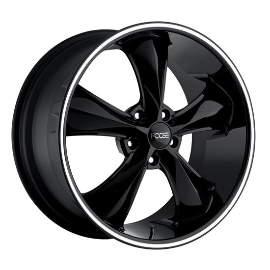 Foose Wheels F10418906552 Legend Wheel, 18x9, Gloss Black Milled