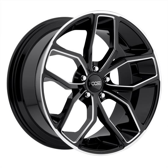 Foose Wheels F150208565+35 Outcast Wheel, 20x8.5, Gloss Black